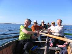 Adult Rowing in Boston Harbor