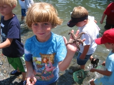 Alexander with starfish